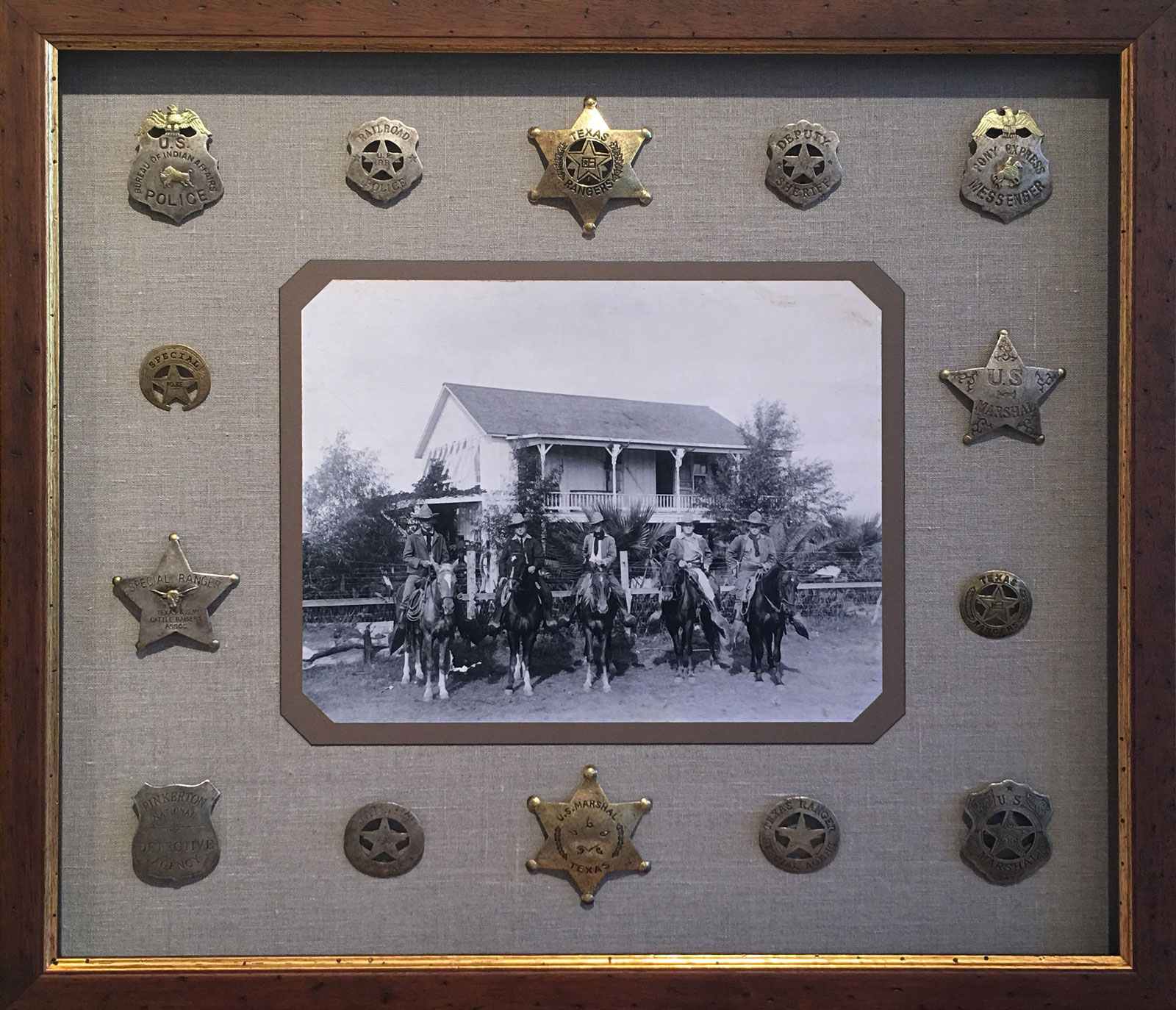 The Texas Rangers with Peace Officer Badges