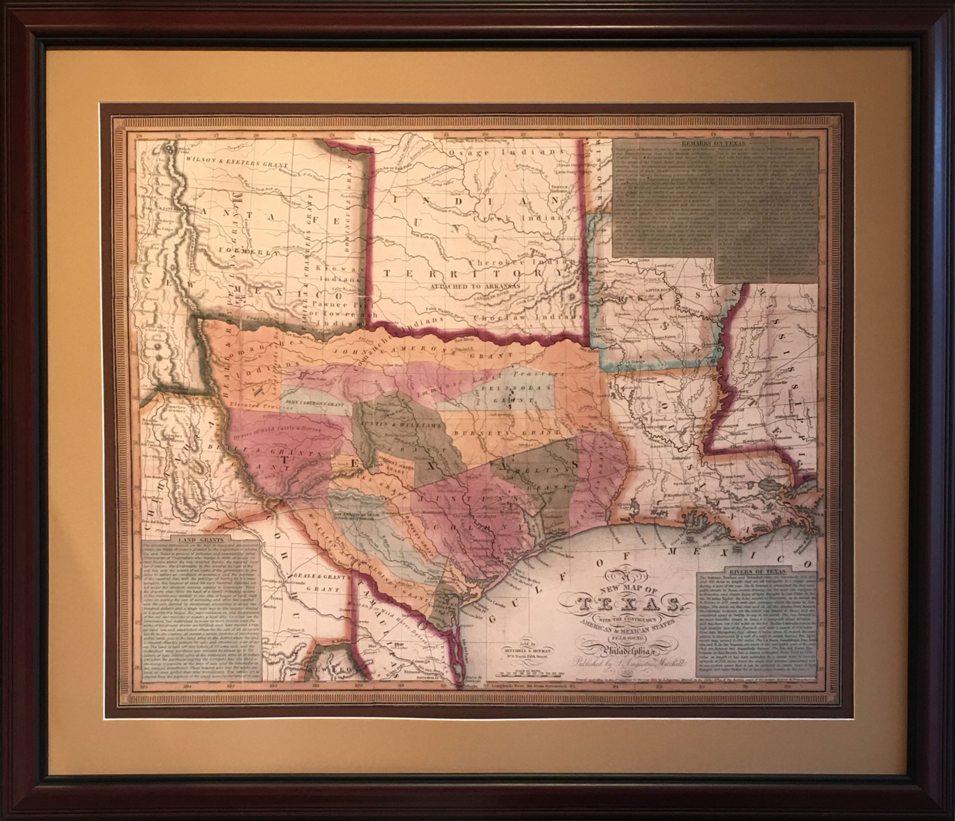New Map Of Texas.Map Of The Early Texas Land Grants