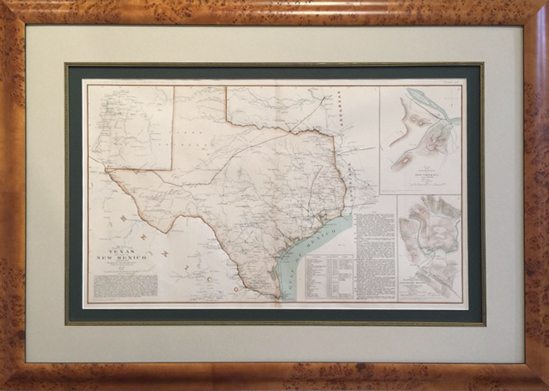 Map Of West Texas And New Mexico.Original Map Of Texas And New Mexico