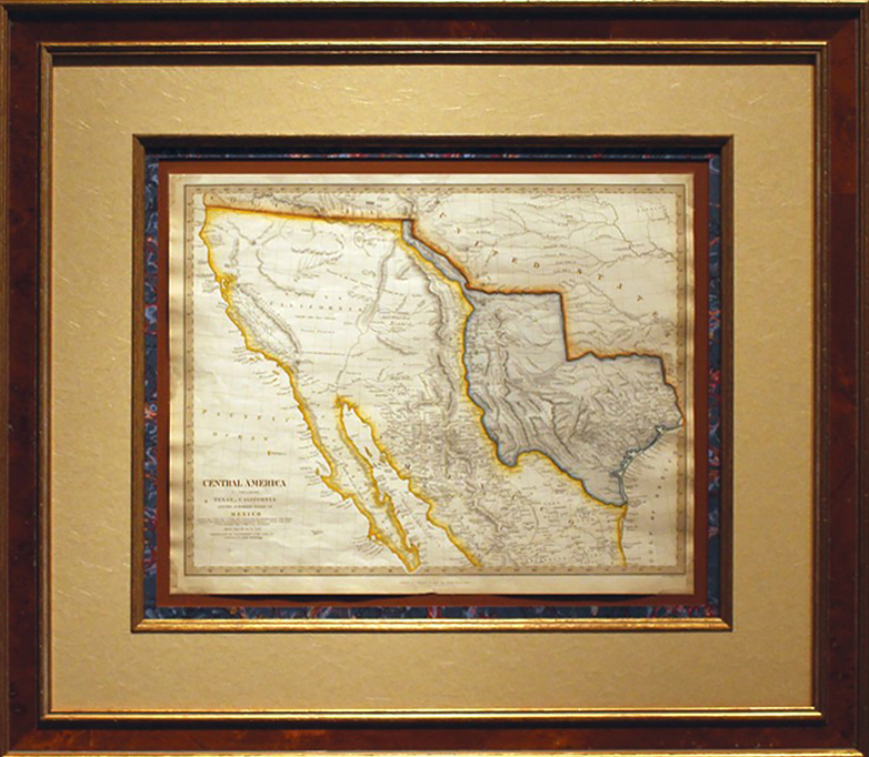 Original Map Of The Republic Of Texas The Northern States Of
