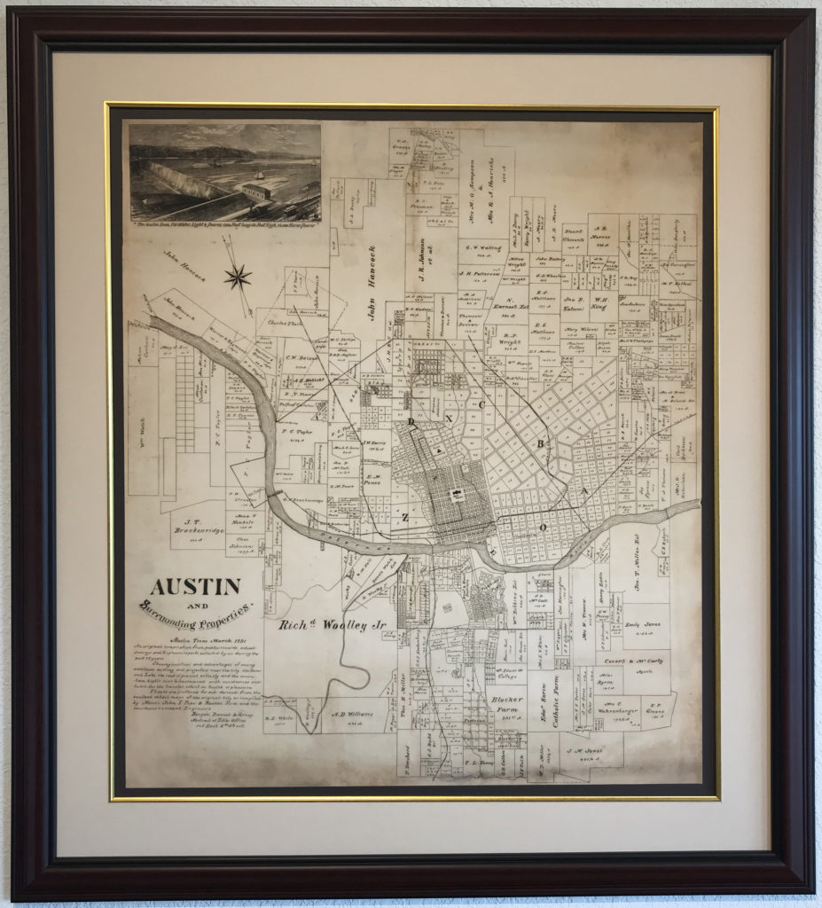 The Finest Historic Map of Greater Austin - Gallery of the Republic